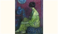 femme assise by paul renaudot