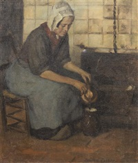 seated peasant woman by julian joseph