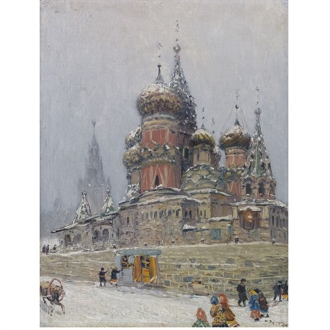 st basils cathedral in winter by nikolai nikanorovich dubovskoy