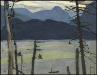 on the skeena river opposite port essington by edwin headley holgate