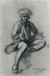 étude de soldat blessé (study) by camille joseph etienne roqueplan