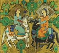 two riders by sadegh tabrizi