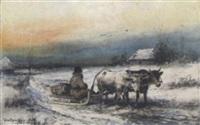 ein wintertag by julius holzmueller