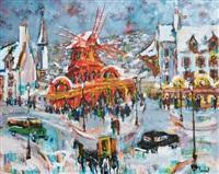 paris, le moulin rouge l'hiver by emmanuel urbain huchet