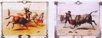 combats de taureau by victor-jean adam