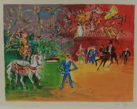 le cirque by raoul dufy