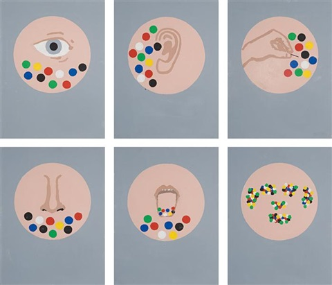 untitled (the senses) (in 6 parts) by matt mullican