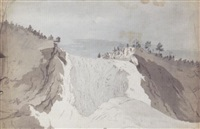 the frozen montmorency falls, quebec, canada by benjamin (major-general) fisher