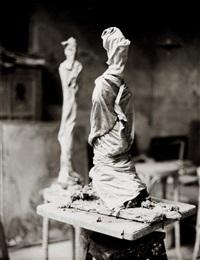 dans l'atelier d'alberto giacometti by herbert matter