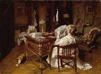 femme lisant by maurice joron