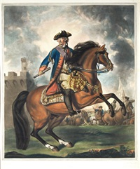 equestrian portrait of john lord ligonier by edward fisher