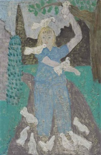 march with doves by milton avery