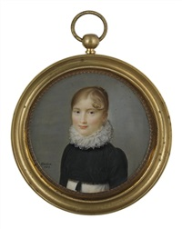 a young lady in white dress by ferdinand machera