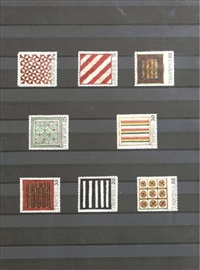 tropides - eight stamps in a frame by donald evans