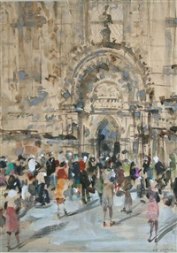 outside the cathedral by james le jeune