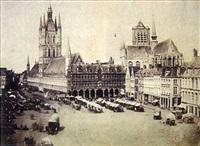 place du marché à ypres, belgique by louis désiré blanquart-evrard