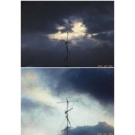 sky over gaza in 2 parts by taysir batniji