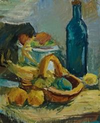 stillleben mit korb und flasche by leon abramowicz