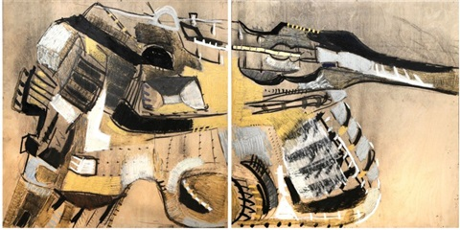 série 2, guns-loaded ? (diptych) by serghei manoliu