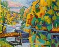 rivière en automne by paco-fiol