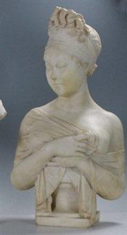 buste de femme symbolisant l'afrique by georges morin