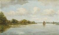 paysage aux voiliers by jacob henricus maris