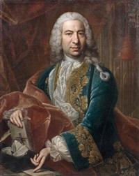 portrait d'homme à la lettre by giovanni maria delle piane