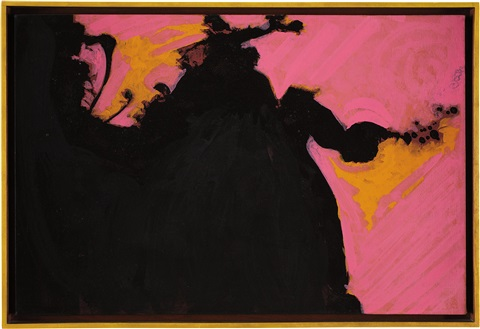 untitled black ochre pink by robert motherwell