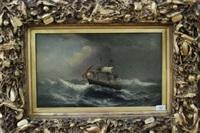 ship at sea by james hamilton