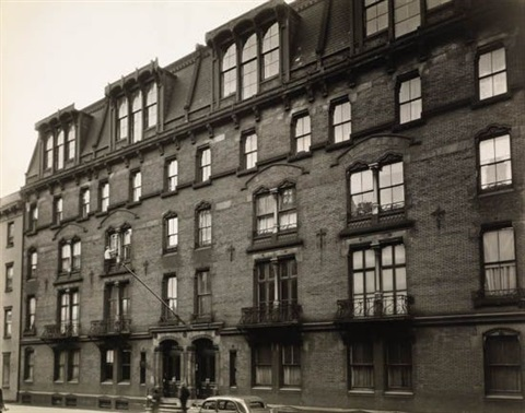 oldest apartment house in new york city 142 east 18th street street scene 2 works by berenice abbott