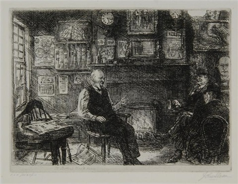 mcsorleys backroom by john french sloan