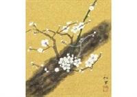 white ume blossoms by kazuko gokura
