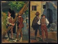 giovani al lavoro (2 works in 1 frame) by giorgi matteo aicardi