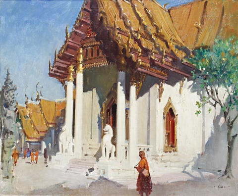 the temple bangkok by terence cuneo