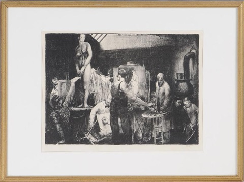life class by george wesley bellows