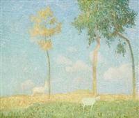 paysage aux chèvres by gustave de smet
