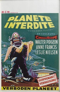 the forbidden planet (poster) by metro-goldwin-mayer studios