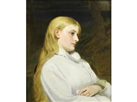 portrait of a young lady by charles sillem lidderdale