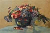 bouquet of flowers in a vase by maximilian lenz