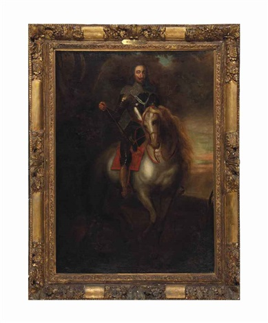 portrait of charles i on horseback by sir anthony van dyck