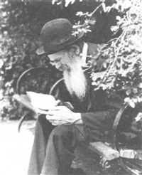 old jewish man reading in central park by john albok