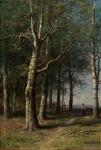 forest path by mikhail konstantinovich klodt von jurgensburg
