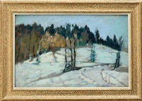 a l'orée de la forêt hiver à brenod by henry grosjean