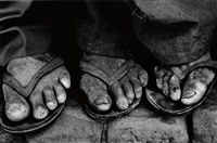 worker's feet, brazil by sebastião salgado