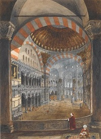 interior of hagia sophia by caspard fossati