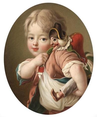 jeune garçon au polichinelle by françois hubert drouais