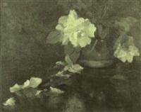 peonies in a chinese jar by wilton robert lockwood