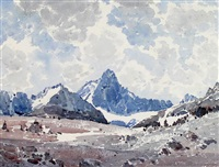 above mount temple, banff national park by alfred crocker leighton