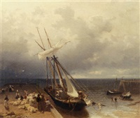 bringing the merchandise to shore by frans arnold breuhaus de groot