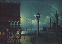 moonlight over st. mark's square, venice by calle leone